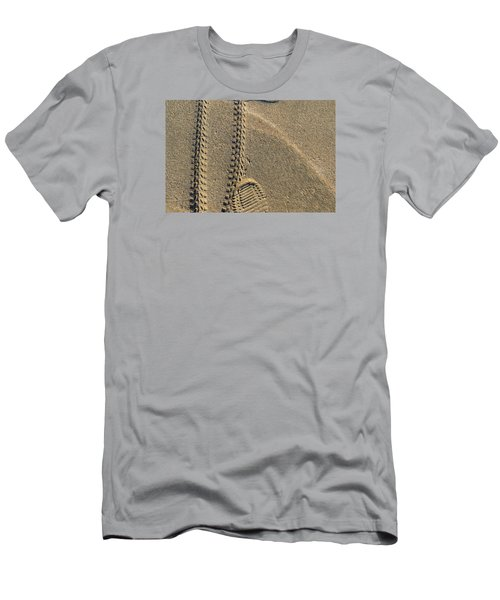 Men's T-Shirt (Slim Fit) featuring the photograph Along The Beach  by Lyle Crump