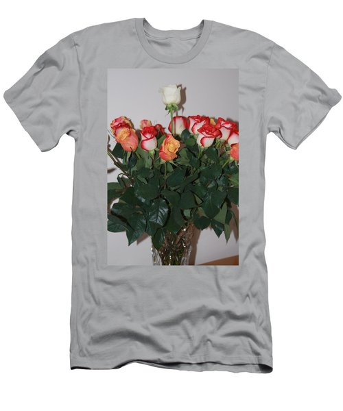 Men's T-Shirt (Athletic Fit) featuring the photograph Always A Rose by Vadim Levin
