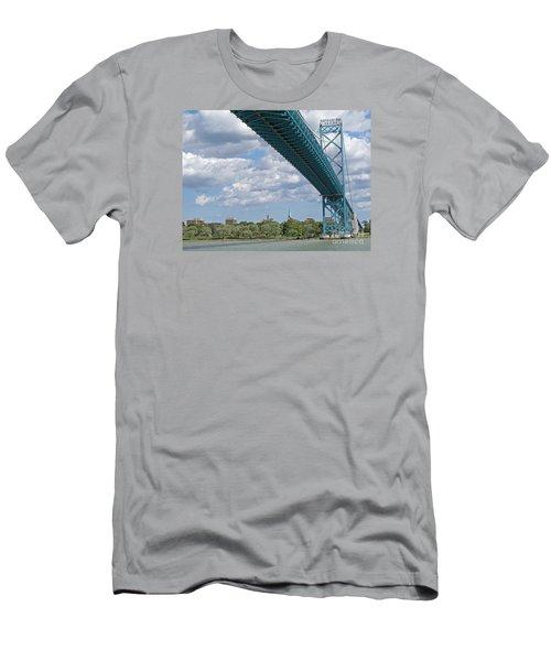 Ambassador Bridge - Windsor Approach Men's T-Shirt (Athletic Fit)