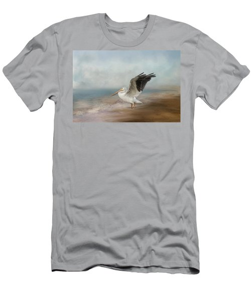Men's T-Shirt (Athletic Fit) featuring the photograph Amble Along The Shore by Kim Hojnacki