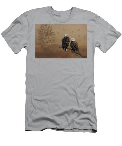 American Bald Eagle Family Men's T-Shirt (Athletic Fit)