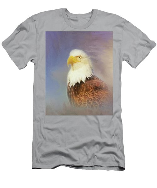 Men's T-Shirt (Slim Fit) featuring the painting American Eagle by Steven Richardson