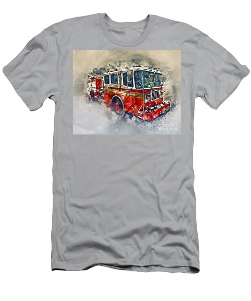 American Fire Truck Men's T-Shirt (Athletic Fit)