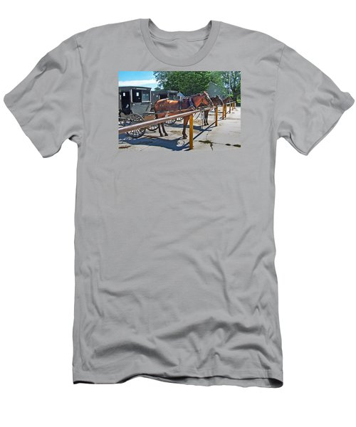 Amish Parking Lot Men's T-Shirt (Athletic Fit)