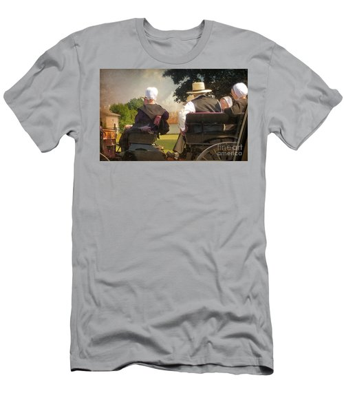 Amish Travelling Men's T-Shirt (Athletic Fit)