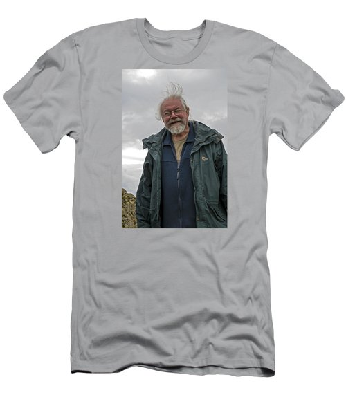Men's T-Shirt (Slim Fit) featuring the photograph An Englishman In Castlerigg, Uk by Dubi Roman