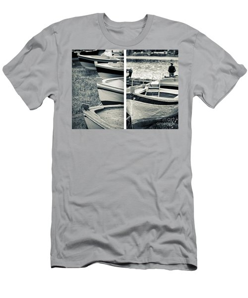 An Old Man's Boats Men's T-Shirt (Slim Fit) by Silvia Ganora