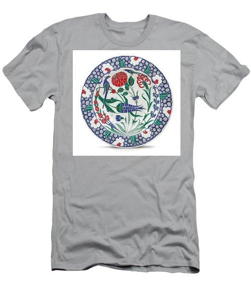 An Ottoman Iznik Style Floral Design Pottery Polychrome, By Adam Asar, No 1 Men's T-Shirt (Athletic Fit)