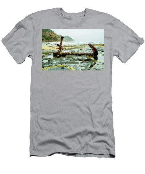 Men's T-Shirt (Athletic Fit) featuring the photograph Anchor At Rest by Angela DeFrias