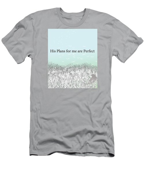 Men's T-Shirt (Slim Fit) featuring the digital art And I Wait by Trilby Cole