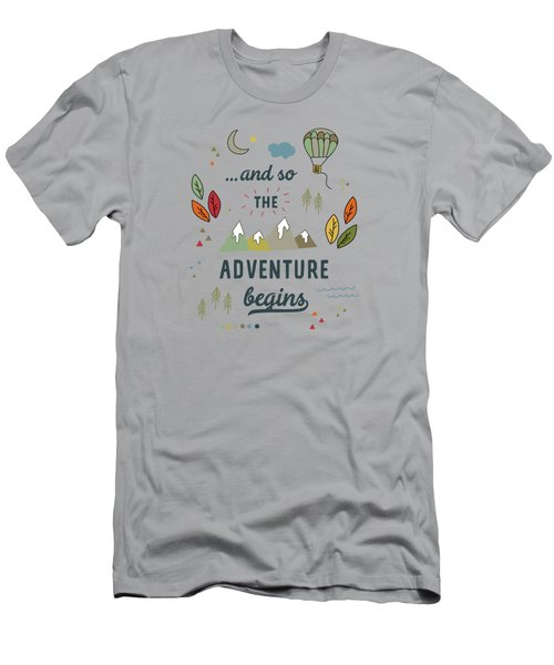 And So The Adventure Begins Men's T-Shirt (Athletic Fit)