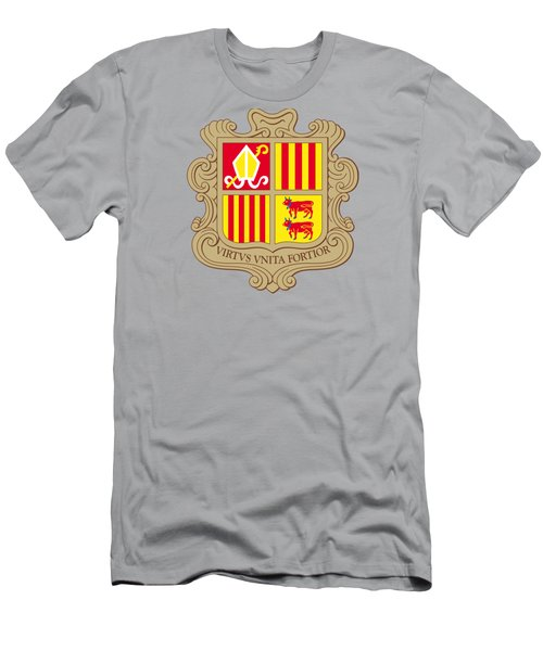 Andorra Coat Of Arms Men's T-Shirt (Slim Fit) by Movie Poster Prints