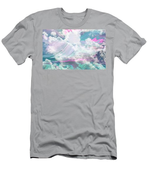 Angel Art Angel Of Peace And Healing Men's T-Shirt (Slim Fit) by Sherri's Of Palm Springs