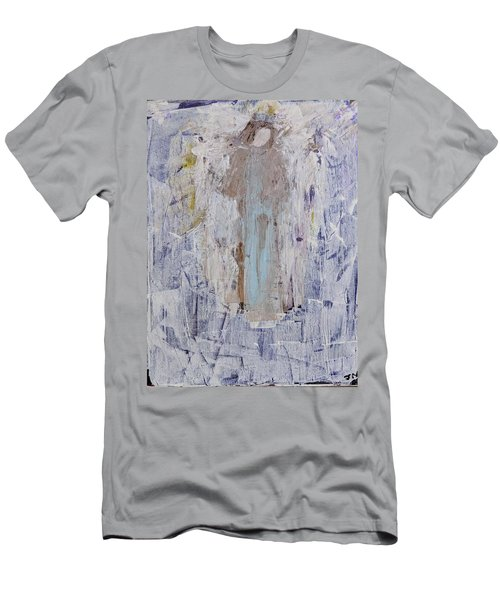 Angel With Her Horse Men's T-Shirt (Athletic Fit)