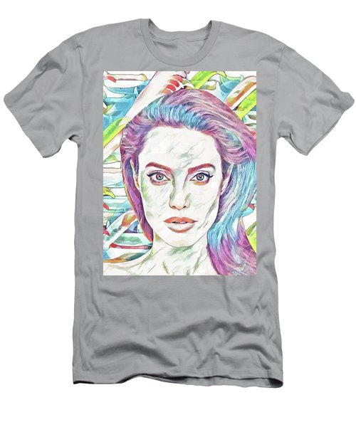 101d3805 Angelina Jolie - Celebrity Art Men's T-Shirt (Athletic Fit)