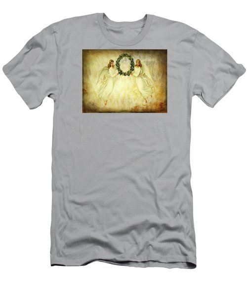 Angels Christmas Card Or Print Men's T-Shirt (Slim Fit) by Bellesouth Studio