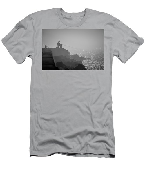 Angling In A Fog  Men's T-Shirt (Athletic Fit)