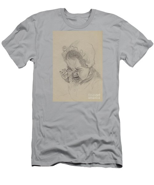Men's T-Shirt (Slim Fit) featuring the drawing Angry by Annemeet Hasidi- van der Leij