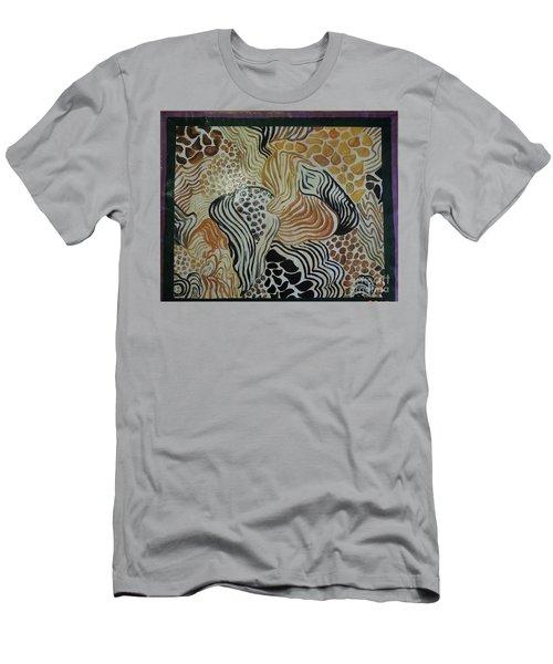 Animal Print Floor Cloth Men's T-Shirt (Slim Fit) by Judith Espinoza