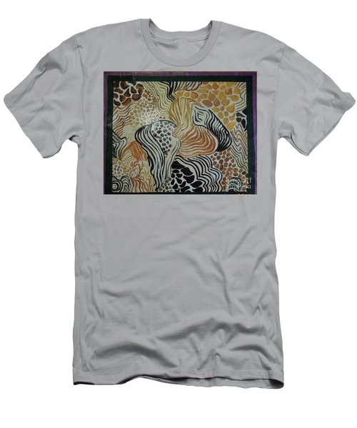Animal Print Floor Cloth Men's T-Shirt (Athletic Fit)