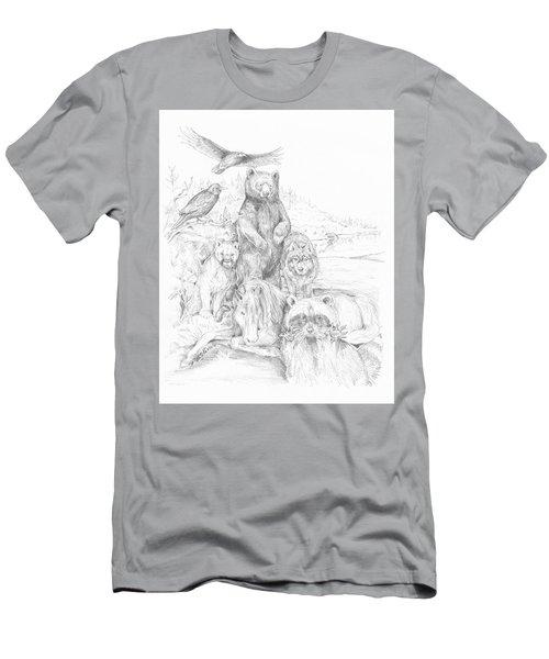Animal Wisdom Men's T-Shirt (Athletic Fit)