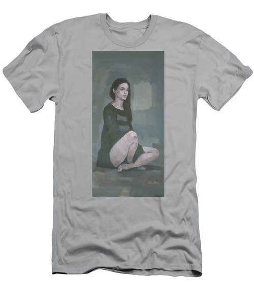 Men's T-Shirt (Athletic Fit) featuring the painting Anna  by Steve Mitchell