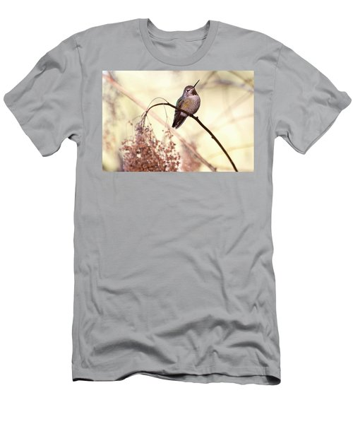 Anna's Hummingbird Closeup Men's T-Shirt (Slim Fit) by Peggy Collins