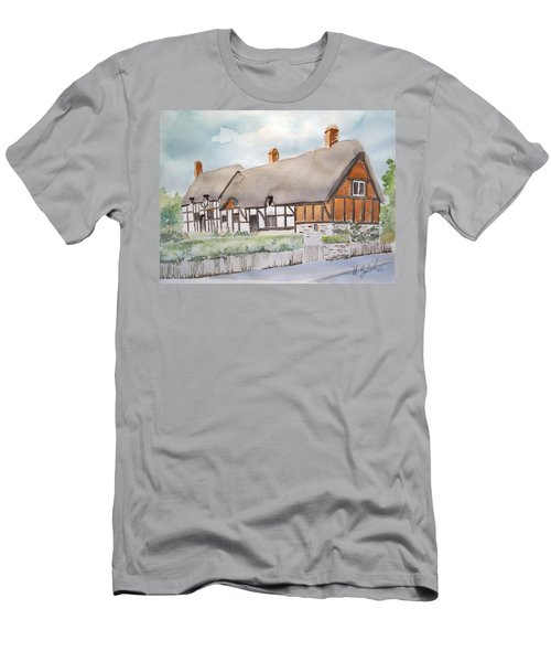 Anne Hathaway's Cottage Men's T-Shirt (Slim Fit) by Marilyn Zalatan