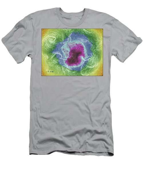 Men's T-Shirt (Slim Fit) featuring the photograph Antarctica Abstract by Geraldine Alexander