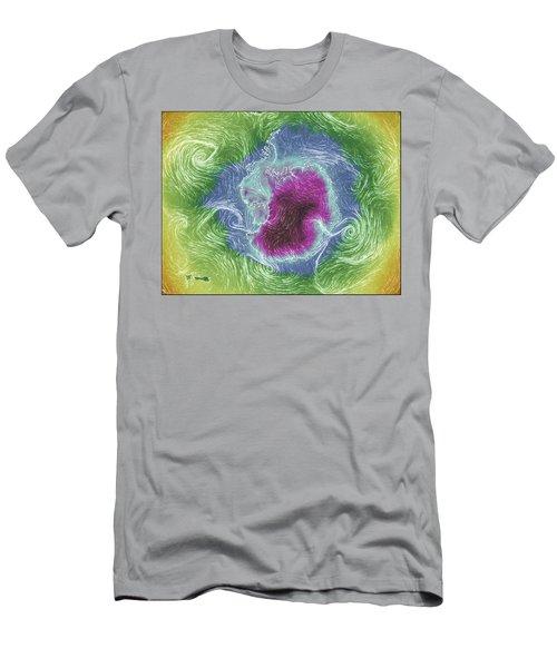 Antarctica Abstract Men's T-Shirt (Slim Fit) by Geraldine Alexander