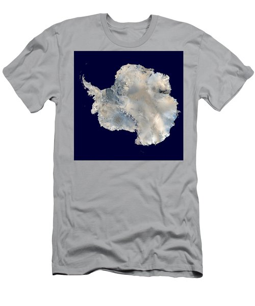 Antarctica From Blue Marble Men's T-Shirt (Athletic Fit)