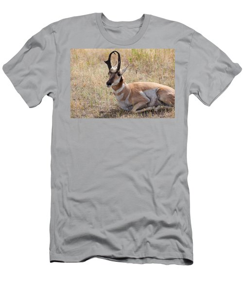 Men's T-Shirt (Athletic Fit) featuring the photograph Antelope Or Pronghorn by Fran Riley
