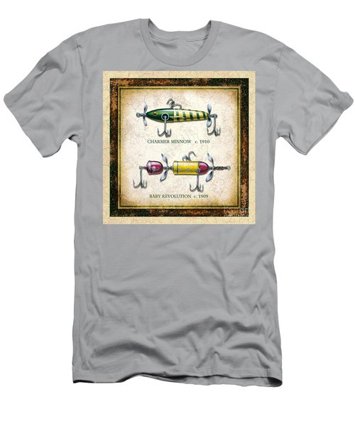Antique Lure Panel One Men's T-Shirt (Slim Fit) by JQ Licensing Jon Q Wright