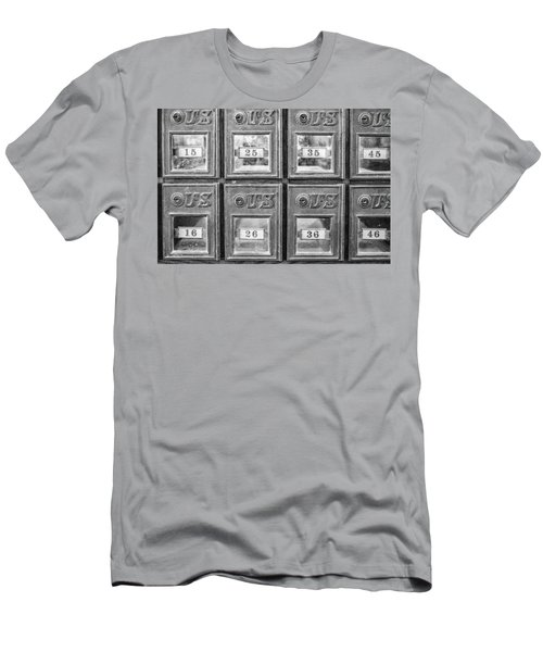 Antique Mailbox Black And White Men's T-Shirt (Athletic Fit)