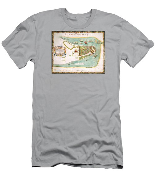 Antique Map Of Manhattan New York 1664 Men's T-Shirt (Athletic Fit)