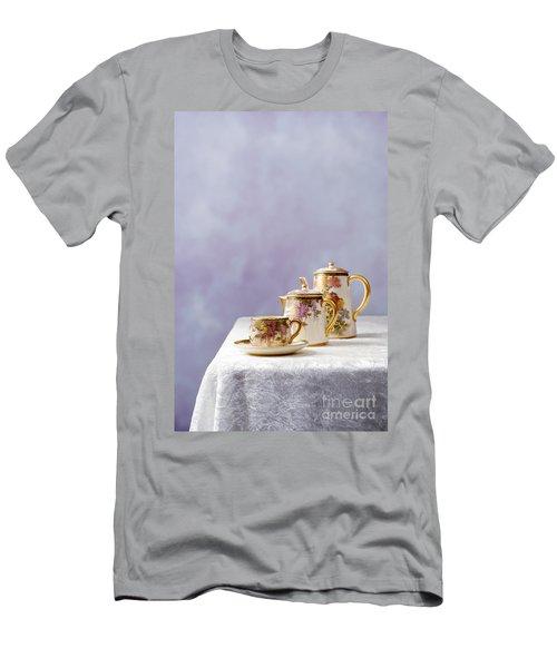 Antique Oriental Teaset Men's T-Shirt (Athletic Fit)