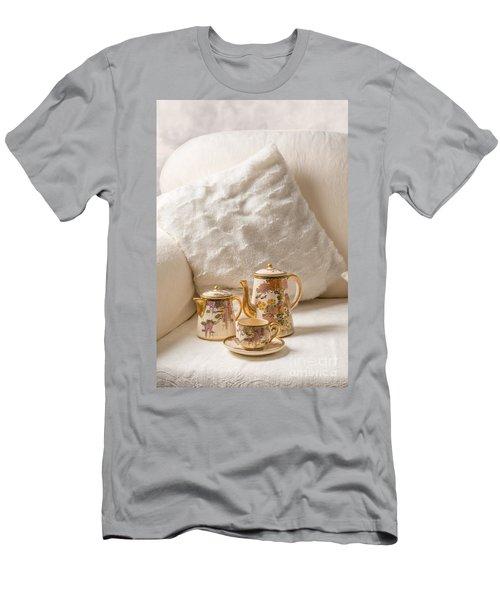 Antique Teaset On Sofa Men's T-Shirt (Athletic Fit)