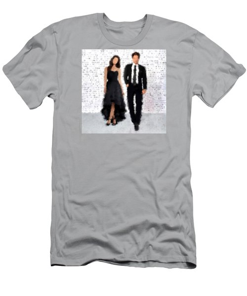Men's T-Shirt (Slim Fit) featuring the digital art Antonia And Giovanni by Nancy Levan
