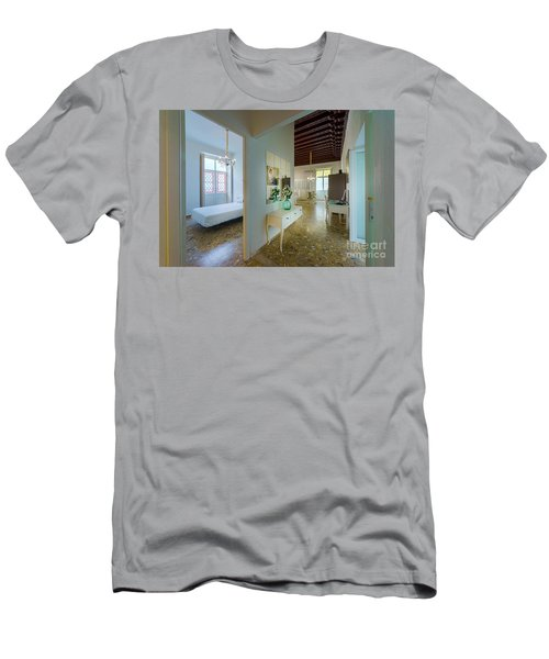 Men's T-Shirt (Athletic Fit) featuring the photograph Apartment In The Heart Of Cadiz 17th Century Spain by Pablo Avanzini