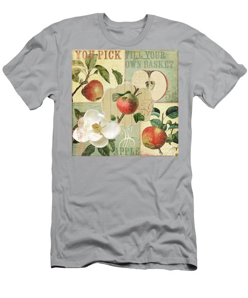 Apple Blossoms Patchwork IIi Men's T-Shirt (Athletic Fit)