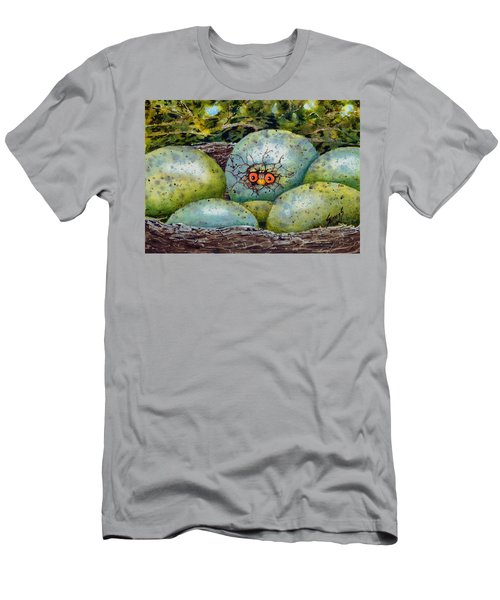 Men's T-Shirt (Athletic Fit) featuring the painting Apprehension by Sam Sidders