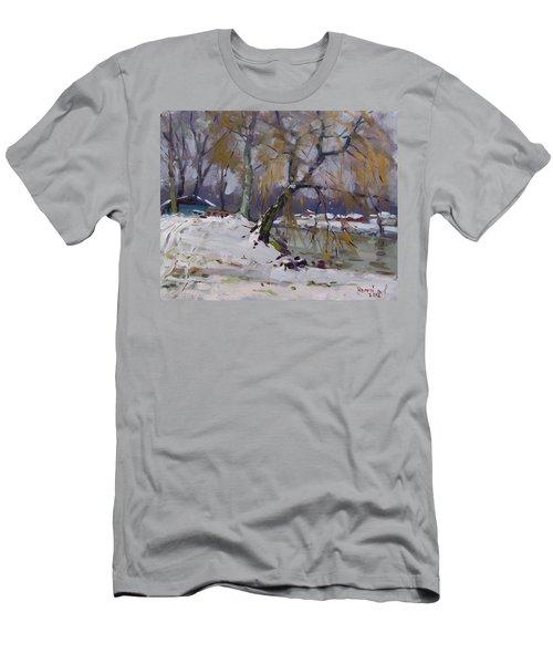 April Snow Storm Men's T-Shirt (Athletic Fit)