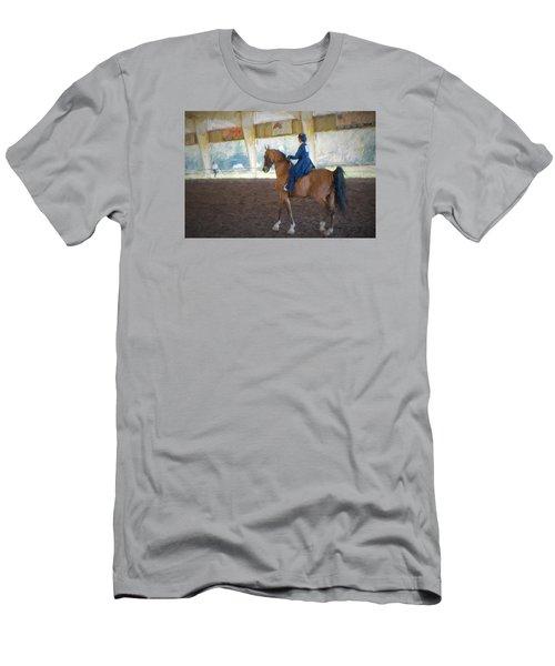 Arabian Dressage Men's T-Shirt (Slim Fit) by Louis Ferreira