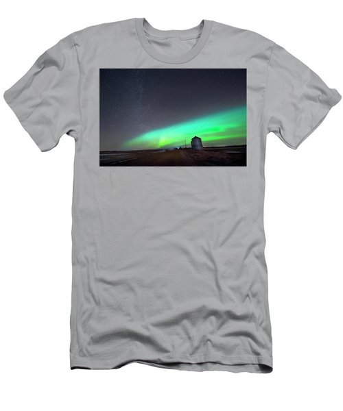 Men's T-Shirt (Slim Fit) featuring the photograph Arc Of The Aurora by Dan Jurak