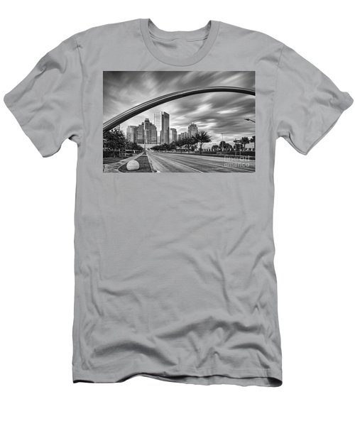 Architectural Photograph Of Post Oak Boulevard At Uptown Houston - Texas Men's T-Shirt (Athletic Fit)