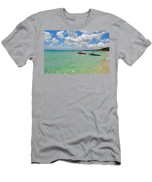 Argostoli Greece Beach Men's T-Shirt (Slim Fit) by Robert Moss