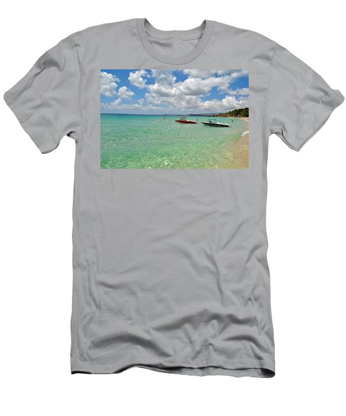Argostoli Greece Beach Men's T-Shirt (Athletic Fit)