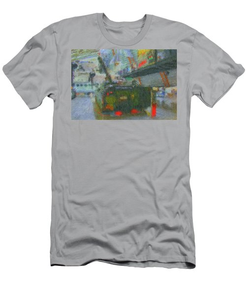 Men's T-Shirt (Athletic Fit) featuring the digital art Armored Personnel Carrier by John Lowe