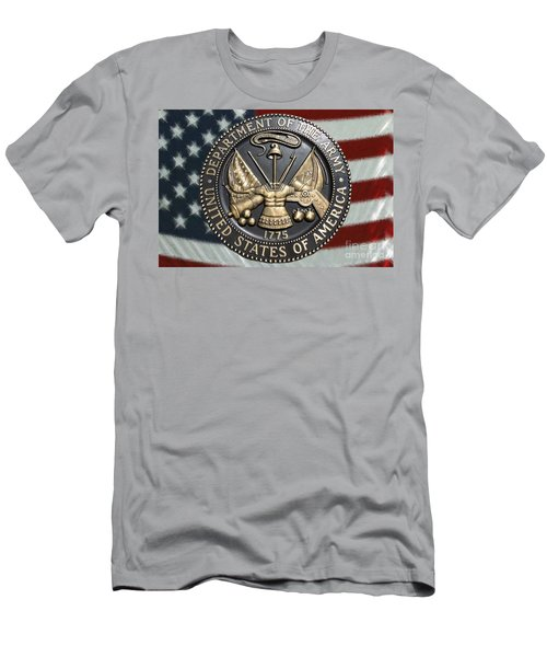 Men's T-Shirt (Slim Fit) featuring the photograph Army Proud by Myrna Bradshaw
