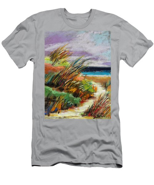 Men's T-Shirt (Slim Fit) featuring the painting Around The Dune by John Williams
